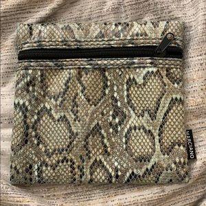 NWOT Cute Snakeskin Pouch